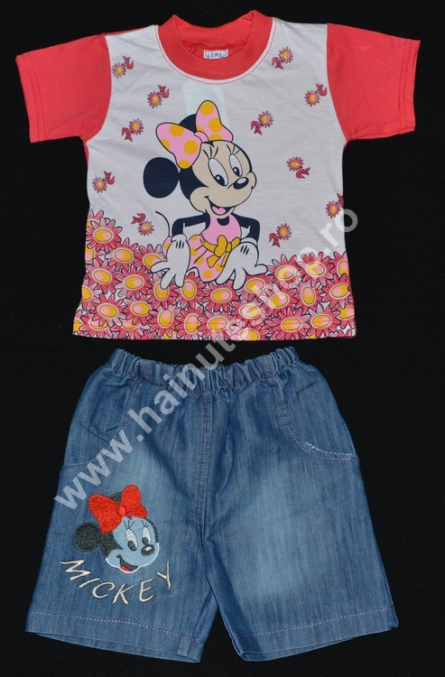 "Set haine bebelusi fete 2 piese ""MINNIE MOUSE"""